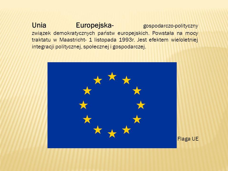 Informacje podstawowe Początkiem integracji europejskiej było powstanie w 1952 roku Europejskiej Wspólnoty Węgla i Stali.