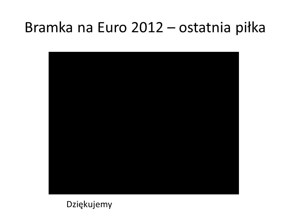 Bramka na Euro 2012 – ostatnia piłka Dziękujemy