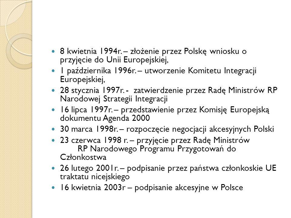 Ostatni etap wejścia do Unii: 7 – 8 czerwca 2003r.