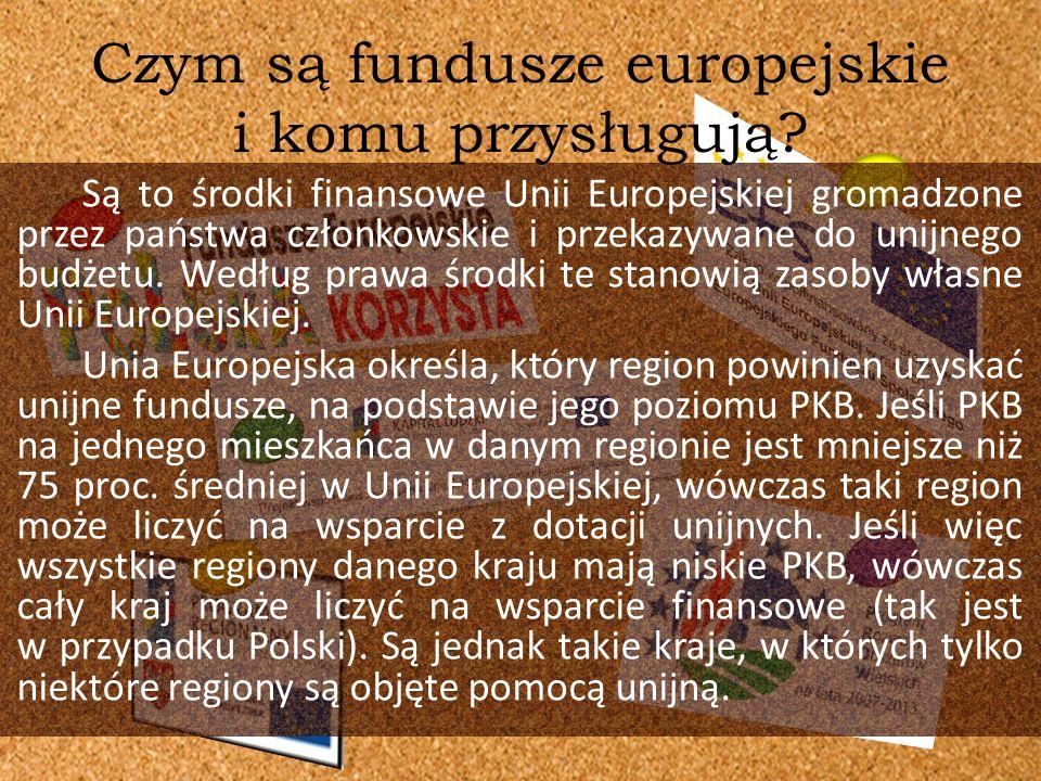 Są to środki finansowe Unii Europejskiej gromadzone przez państwa członkowskie i przekazywane do unijnego budżetu. Według prawa środki te stanowią zas