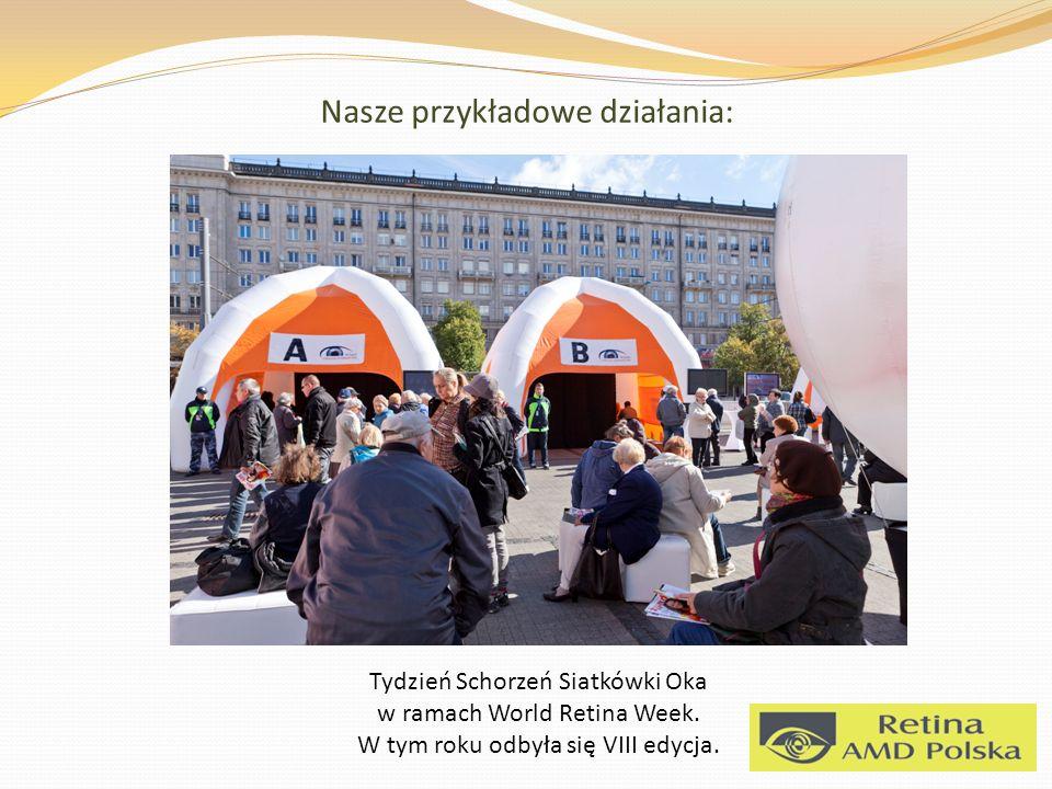 Nasze przykładowe działania: Tydzień Schorzeń Siatkówki Oka w ramach World Retina Week.