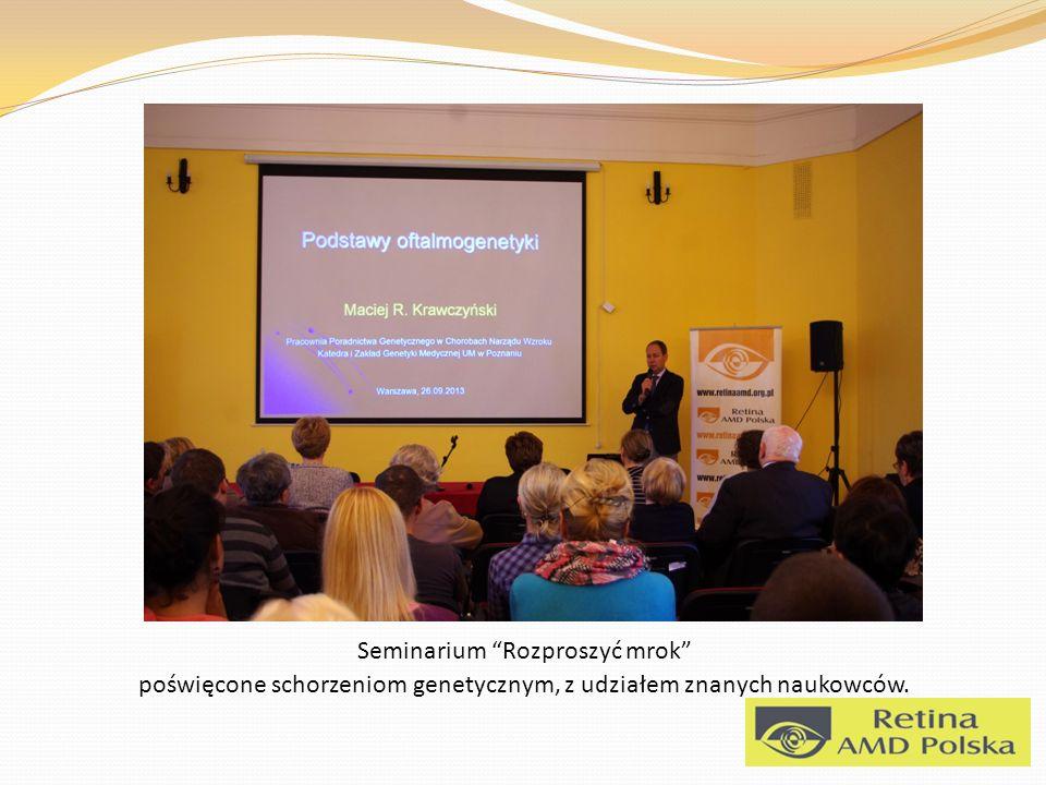 Seminarium Rozproszyć mrok poświęcone schorzeniom genetycznym, z udziałem znanych naukowców.