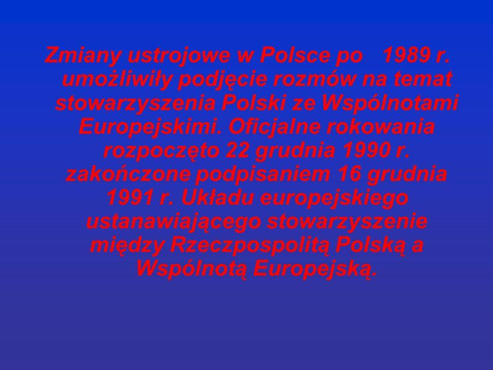 Zmiany ustrojowe w Polsce po 1989 r.