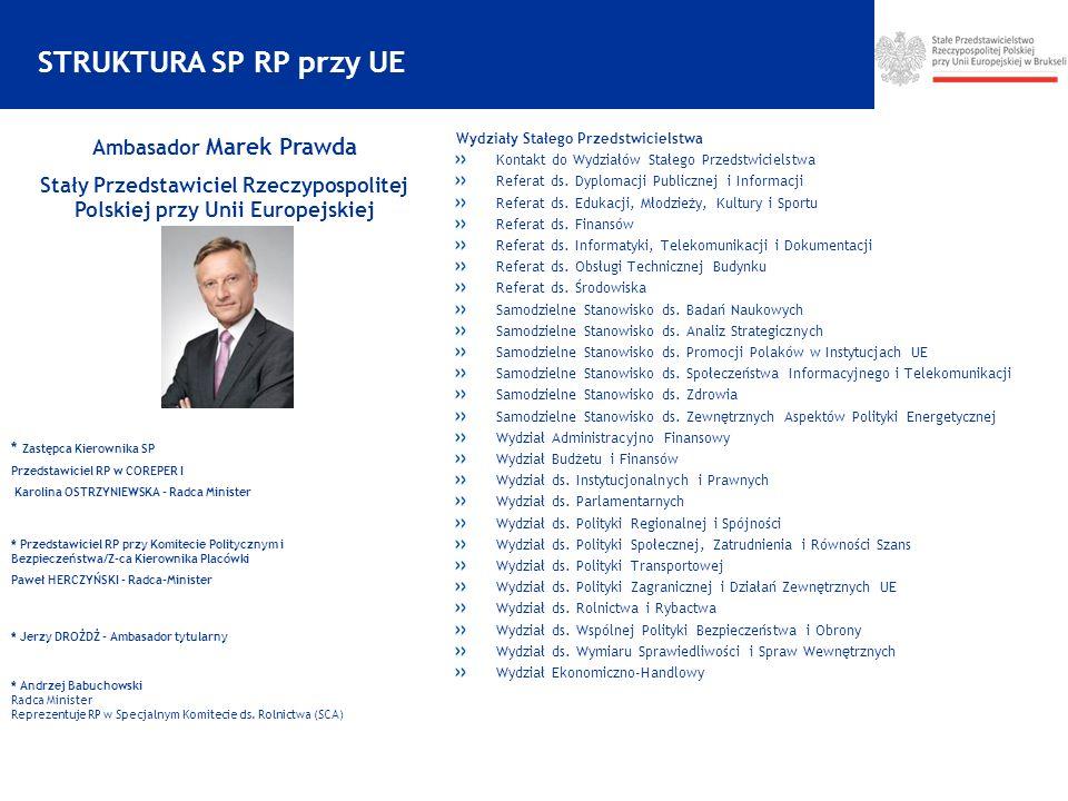 STRUKTURA SP RP przy UE Wydziały Stałego Przedstwicielstwa Kontakt do Wydziałów Stałego Przedstwicielstwa Referat ds.