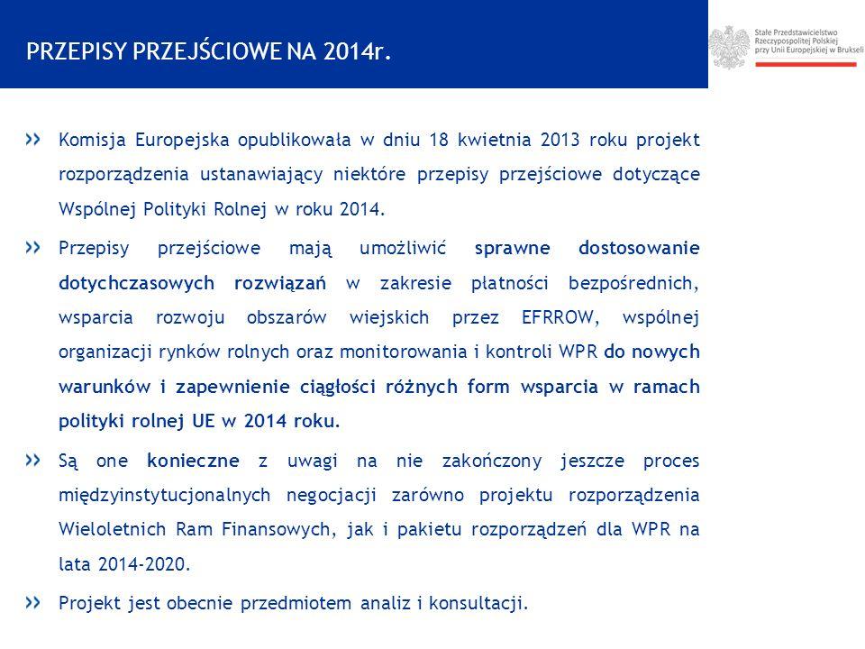 PRZEPISY PRZEJŚCIOWE NA 2014r.