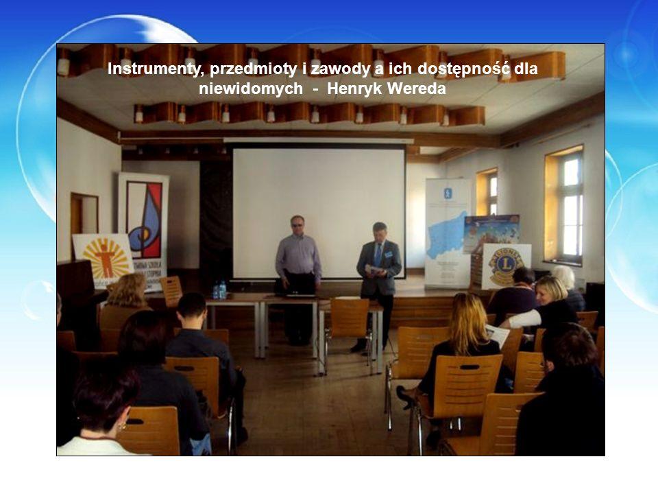 Instrumenty, przedmioty i zawody a ich dostępność dla niewidomych - Henryk Wereda