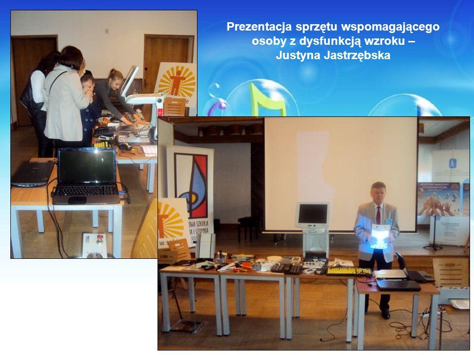 Prezentacja sprzętu wspomagającego osoby z dysfunkcją wzroku – Justyna Jastrzębska