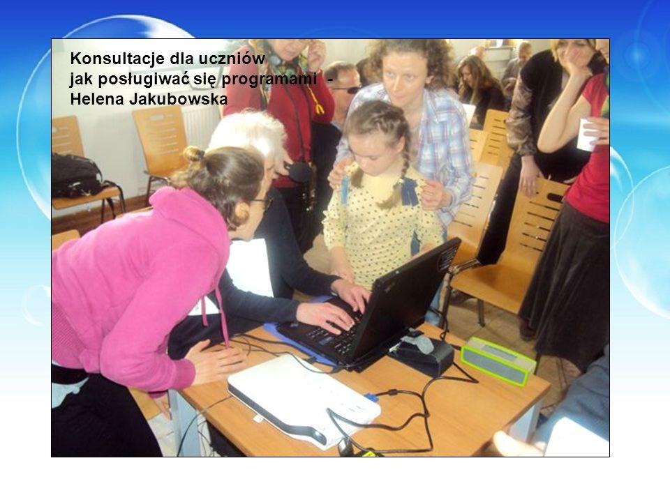 Konsultacje dla uczniów jak posługiwać się programami - Helena Jakubowska