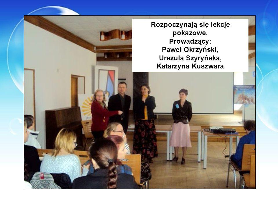 Rozpoczynają się lekcje pokazowe. Prowadzący: Paweł Okrzyński, Urszula Szyryńska, Katarzyna Kuszwara