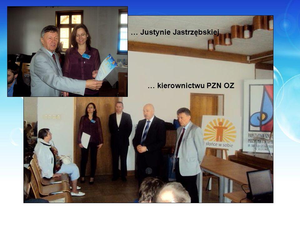 … kierownictwu PZN OZ … Justynie Jastrzębskiej