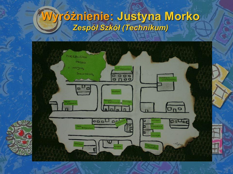Wyróżnienie: Justyna Morko Zespół Szkół (Technikum)