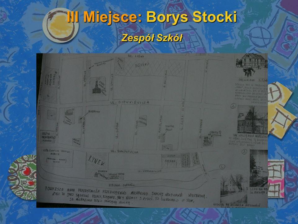 III Miejsce: Borys Stocki Zespół Szkół