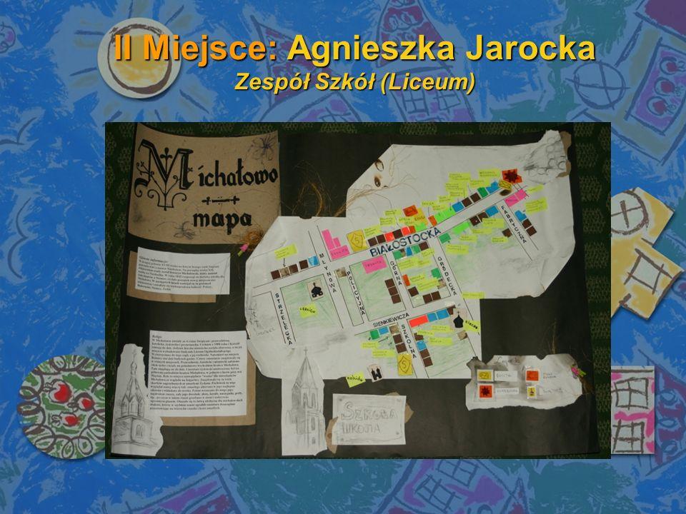 II Miejsce: Agnieszka Jarocka Zespół Szkół (Liceum)