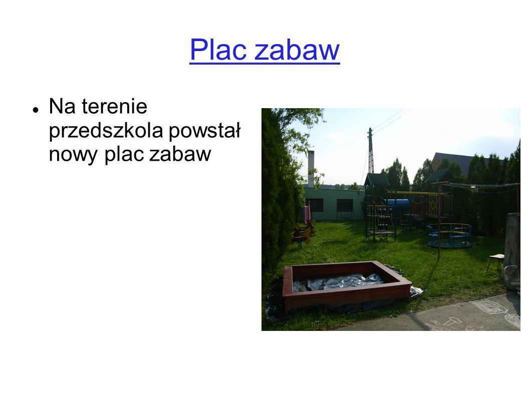 Plac zabaw Na terenie przedszkola powstał nowy plac zabaw