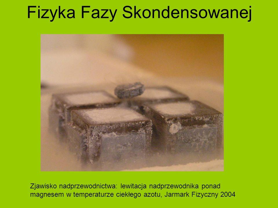 Fizyka Fazy Skondensowanej Zjawisko nadprzewodnictwa: lewitacja nadprzewodnika ponad magnesem w temperaturze ciekłego azotu, Jarmark Fizyczny 2004