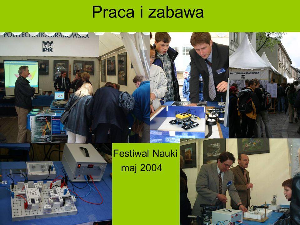 Praca i zabawa Festiwal Nauki maj 2004