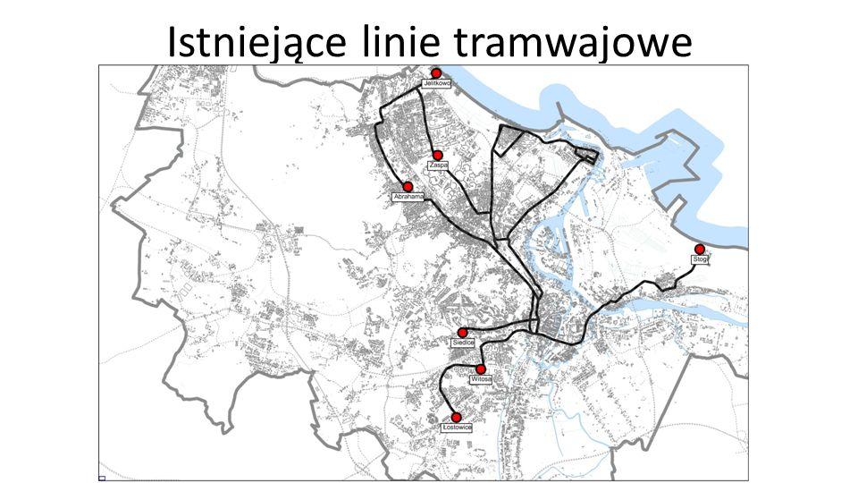 Planowane linie tramwajowe wg SUiKZP Jabłoniowa Rakoczego Czerwony Most Polski Hak NOWA ŚWIETOKRZYSKA PODMIEJSKA CHMIELNA BULOŃSKA POŁUDNIOWA STĘŻYCKA WARSZAWSKA ABRAHAMA DROGA ZIELONA NOWA WAŁOWA