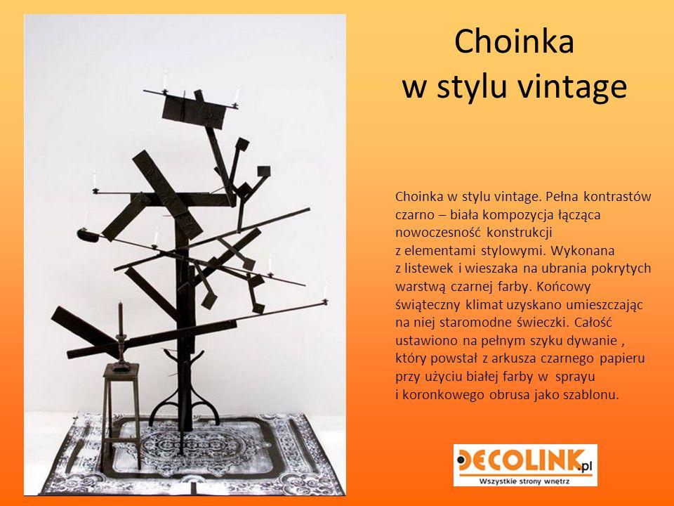 Choinka w stylu vintage Choinka w stylu vintage.