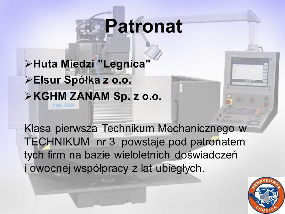 Huta Miedzi Legnica Elsur Spółka z o.o.KGHM ZANAM Sp.