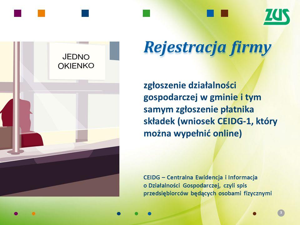 3 zgłoszenie działalności gospodarczej w gminie i tym samym zgłoszenie płatnika składek (wniosek CEIDG-1, który można wypełnić online) CEIDG – Central
