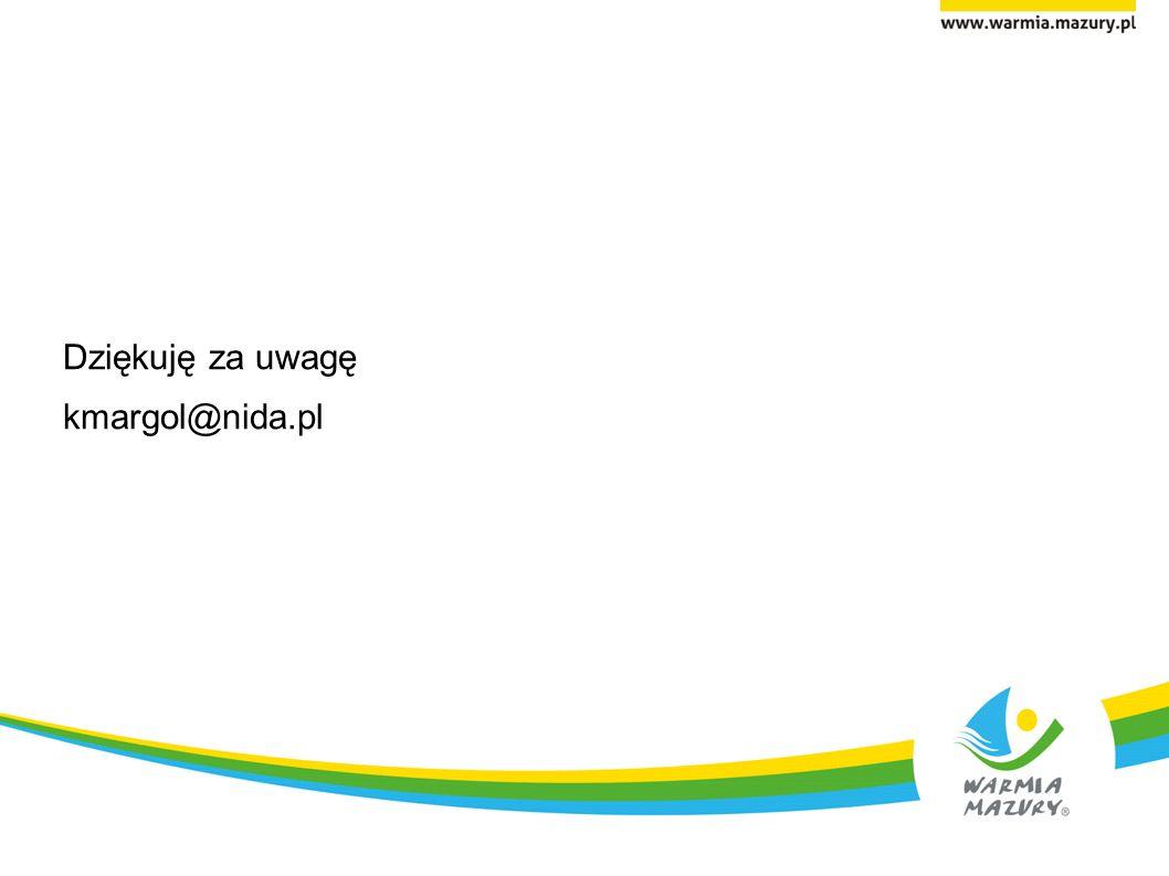 Dziękuję za uwagę kmargol@nida.pl