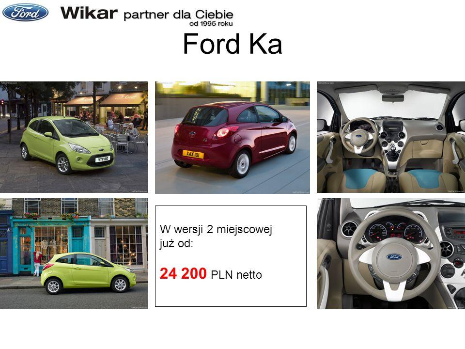 Ford Ka W wersji 2 miejscowej już od: 24 200 PLN netto
