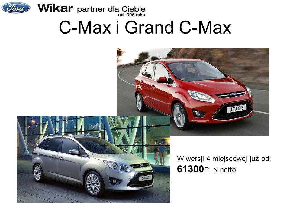 C-Max i Grand C-Max W wersji 4 miejscowej już od: 61300 PLN netto