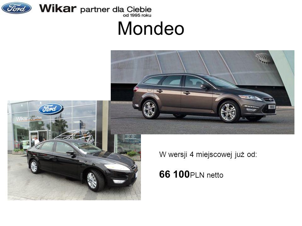 Mondeo W wersji 4 miejscowej już od: 66 100 PLN netto