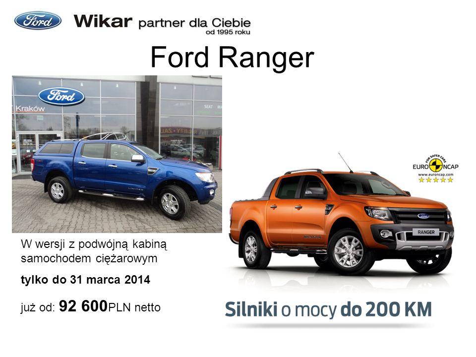 Ford Ranger W wersji z podwójną kabiną samochodem ciężarowym tylko do 31 marca 2014 już od: 92 600 PLN netto