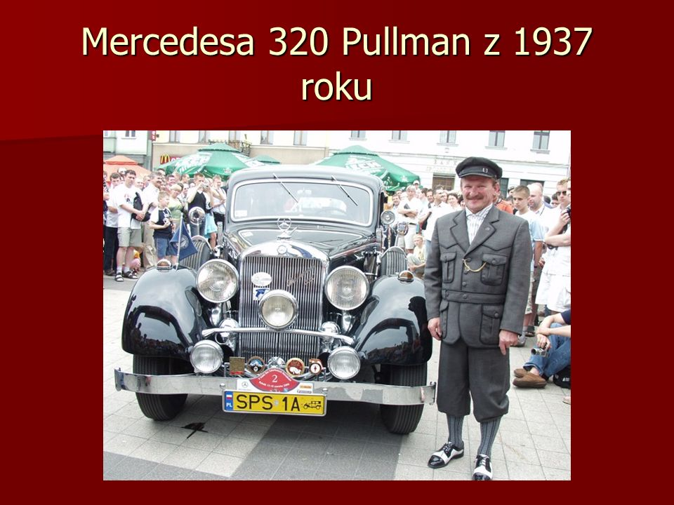 Mercedesa 320 Pullman z 1937 roku