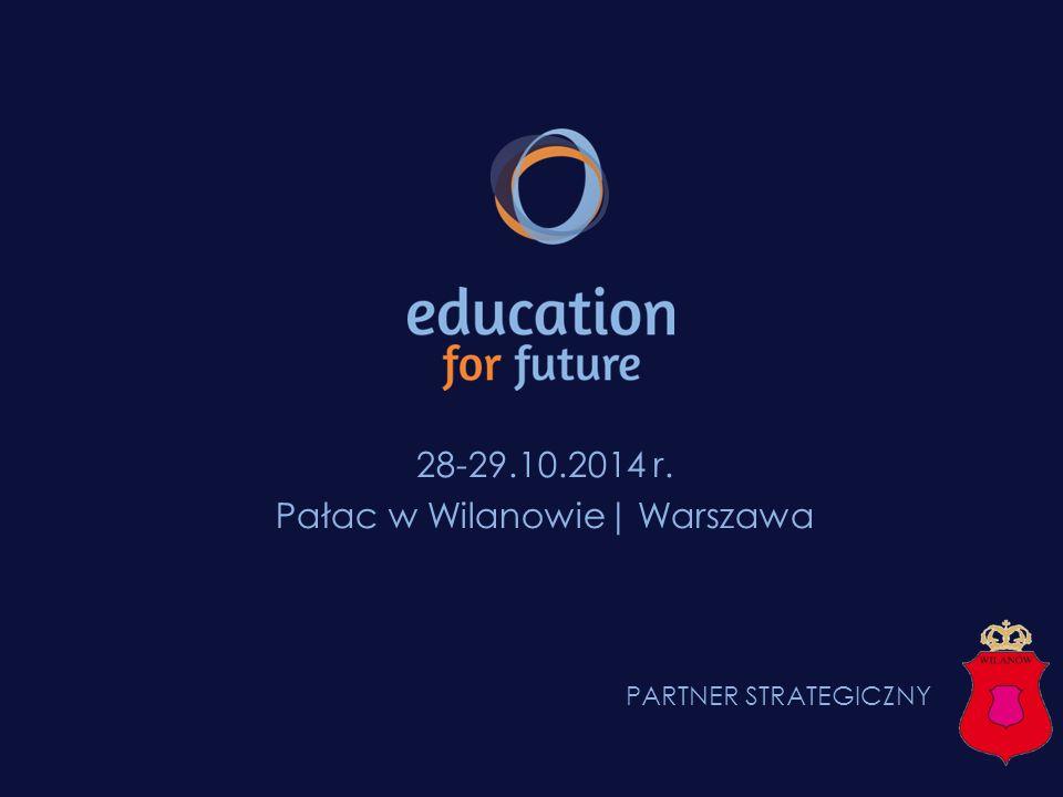 EDUCATION FOR FUTURE® EDUCATION FOR FUTURE® Pałac w Wilanowie wraz z Oranżerią Do dyspozycji organizatorów dzięki uprzejmości SPONSORA STRATEGICZNEGO, Urzędu Dzielnicy Wilanów, oddane zostały: sale Pałacu w Wilanowie, cześć zieleni znajdującej się przed Pałacem jak również Oranżeria, która stanowić będzie centrum targowe konferencji Education for Future ®.