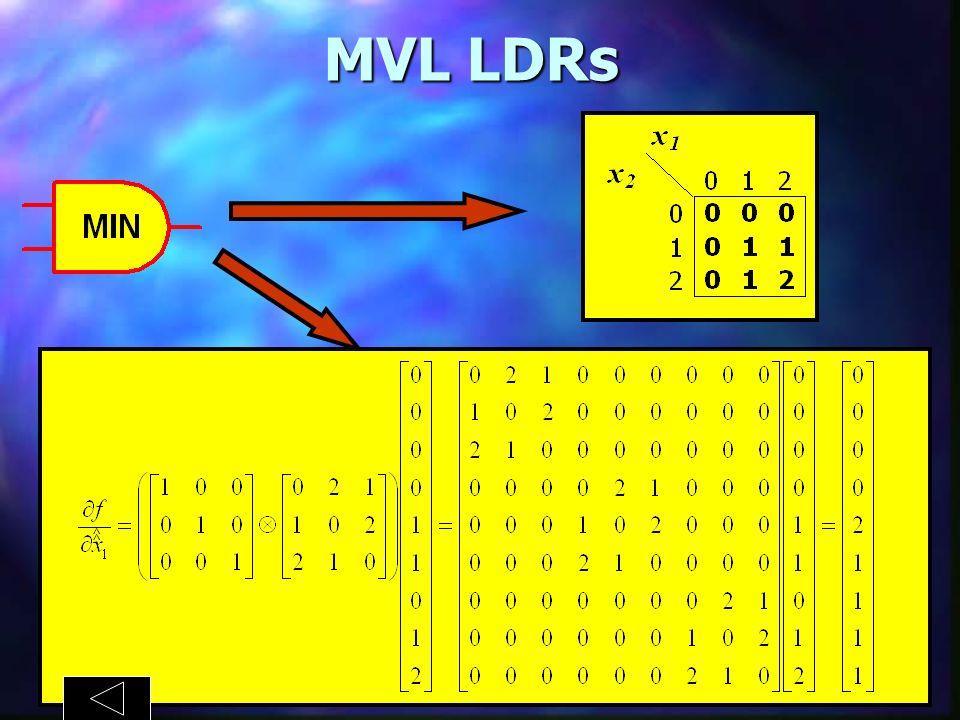 MVL LDRs TRUTH TABLE ^ ^