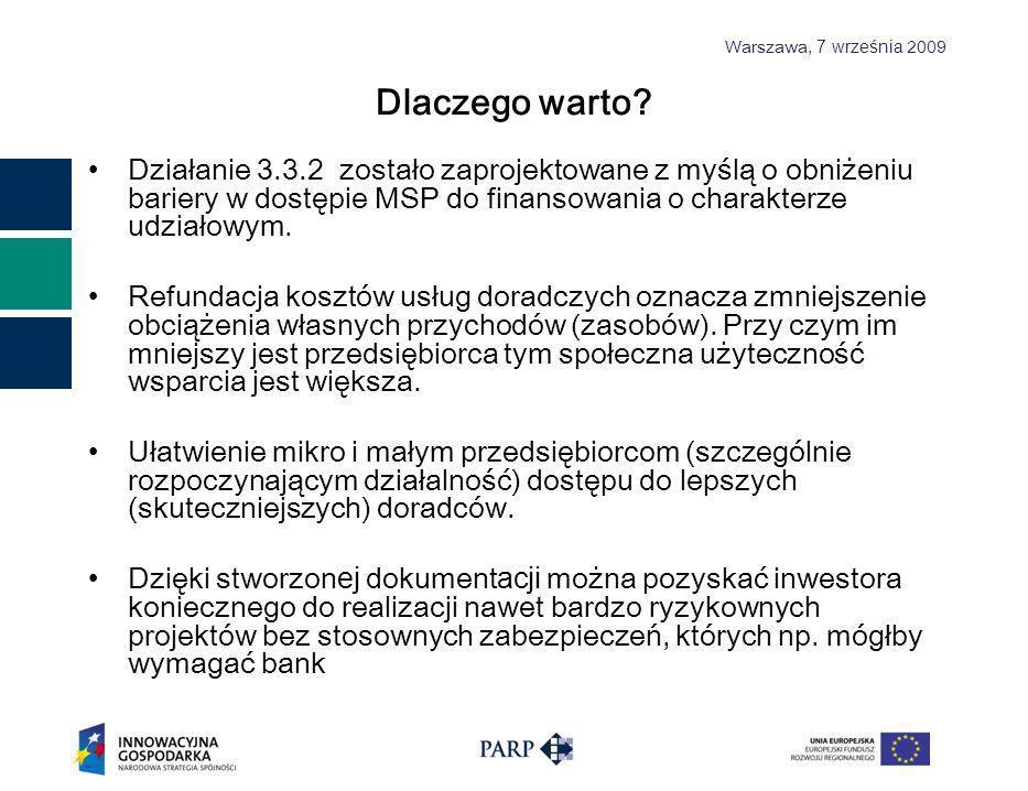 Warszawa, 7 września 2009 Dlaczego warto.
