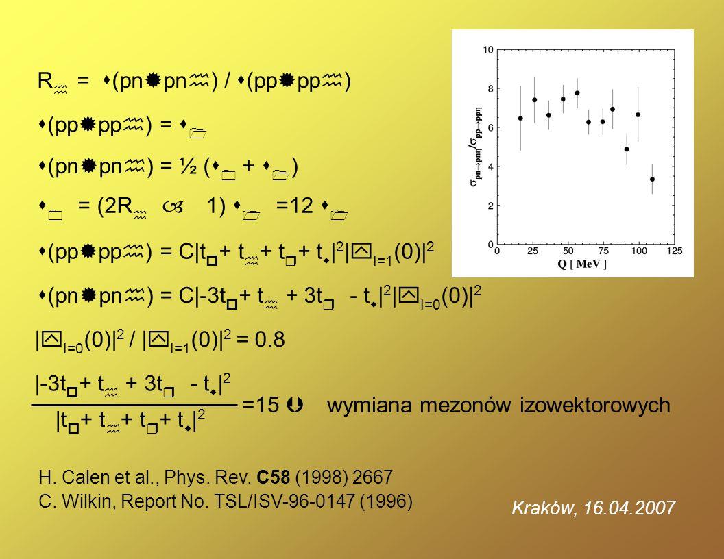(pp pph) = 1 (pn pnh) = ½ ( 0 + 1 ) R h = (pn pnh) / (pp pph) 0 = (2R h – 1) 1 =12 1 (pp pph) = C|t p + t h + t r + t w | 2 |y I=1 (0)| 2 (pn pnh) = C