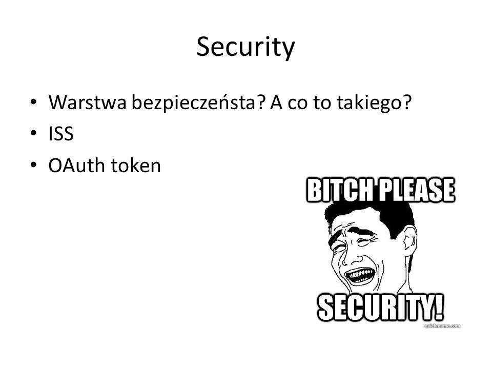 Security Warstwa bezpieczeństa? A co to takiego? ISS OAuth token