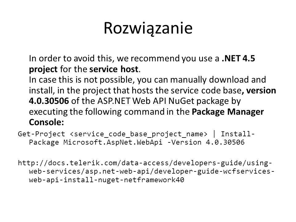 Po co to? Serwis, podział na warstwy aplikacji HTML5, MOBILE, DESKTOP JSON/XML