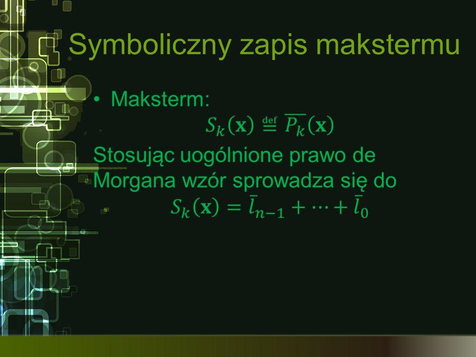 Symboliczny zapis makstermu