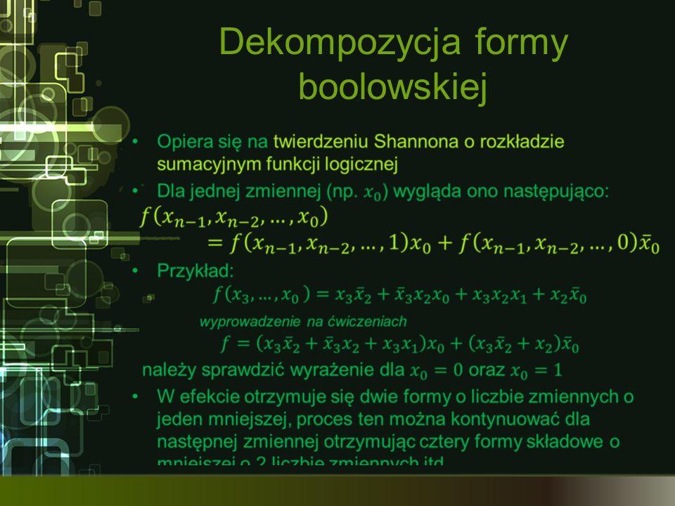 Dekompozycja formy boolowskiej