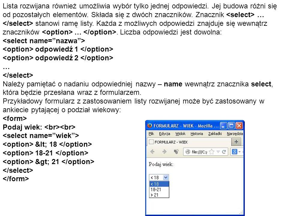 Obszar tekstowy jest elementem pozwalającym na wprowadzenie przez użytkownika dowolnej długości tekstu.
