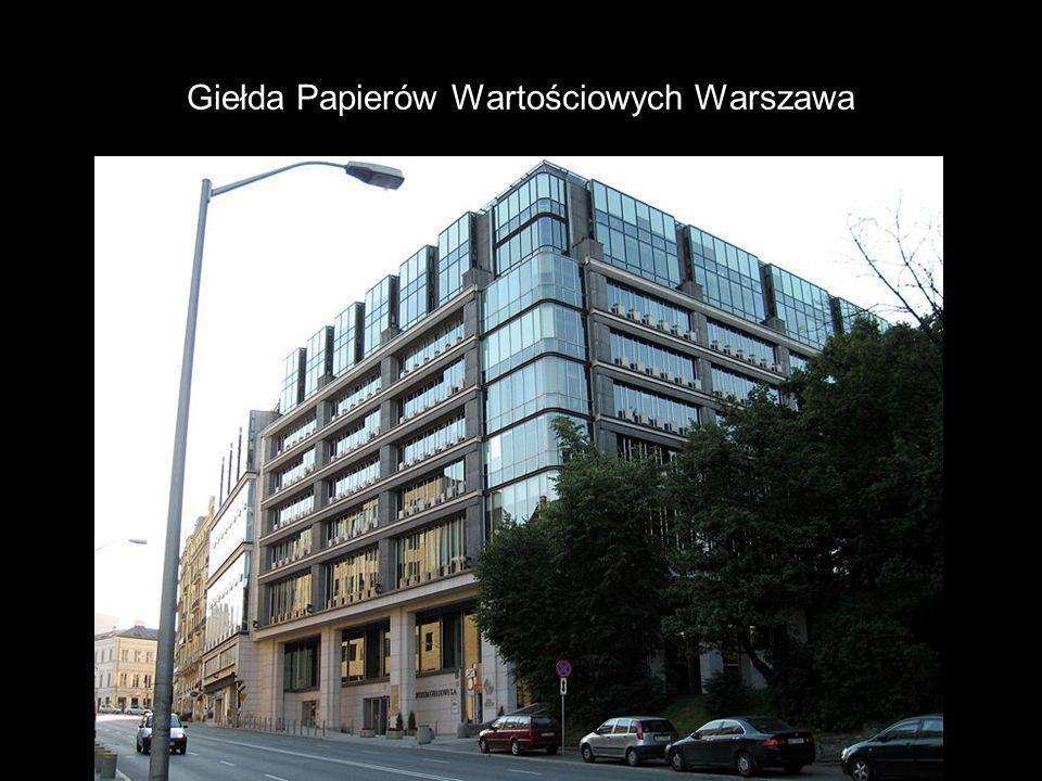 Giełda Papierów Wartościowych Warszawa