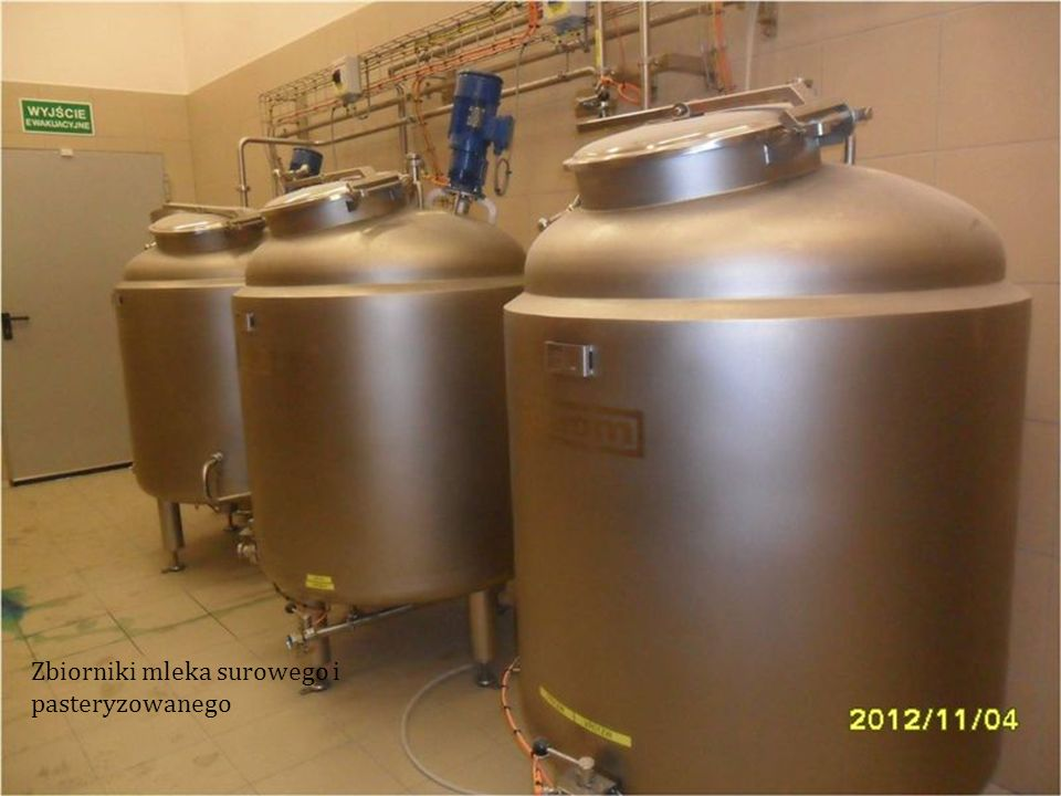 Zbiorniki mleka surowego i pasteryzowanego