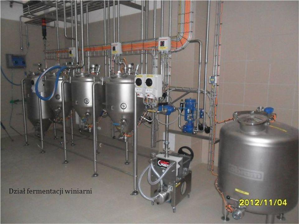 Dział fermentacji winiarni