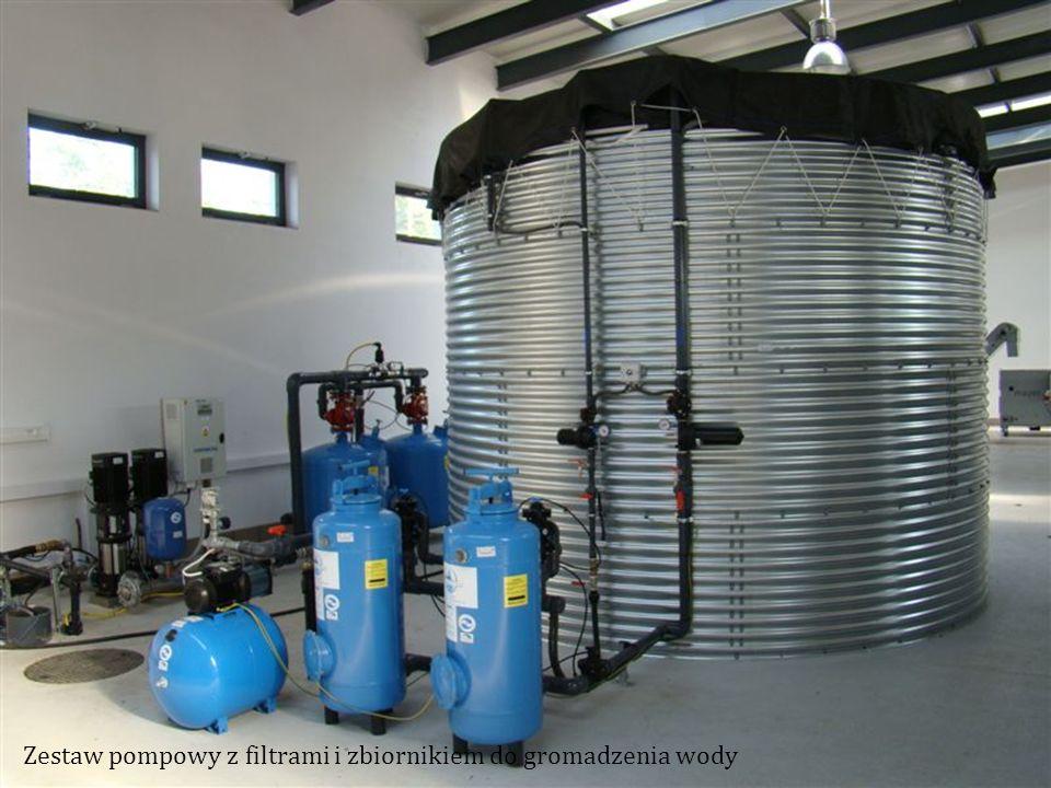 Zestaw pompowy z filtrami i zbiornikiem do gromadzenia wody