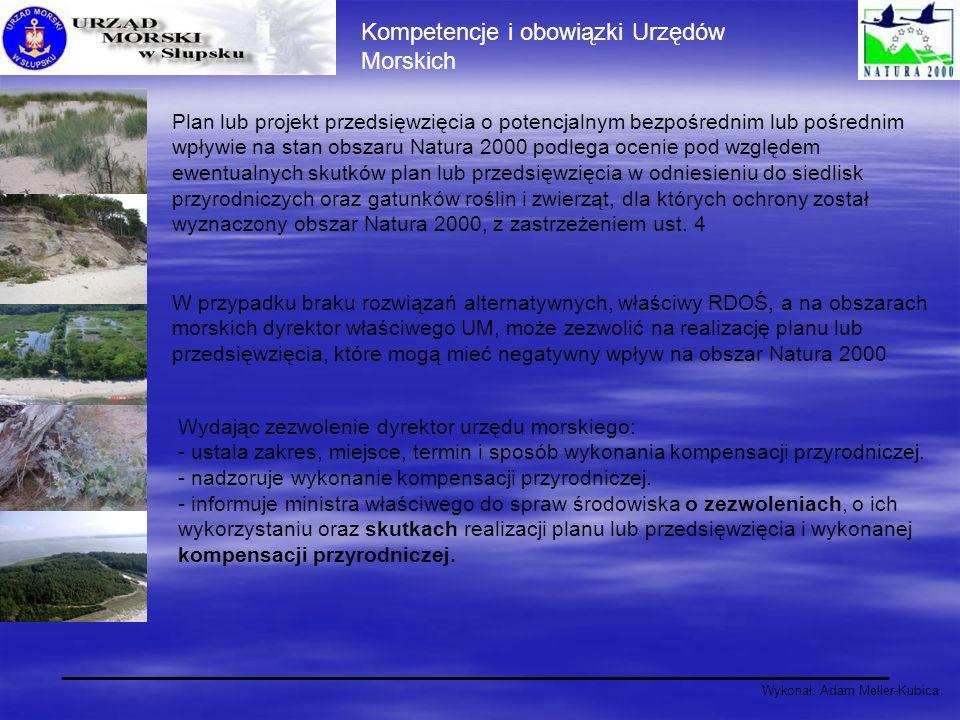 Wykonał: Adam Meller-Kubica Plan lub projekt przedsięwzięcia o potencjalnym bezpośrednim lub pośrednim wpływie na stan obszaru Natura 2000 podlega oce