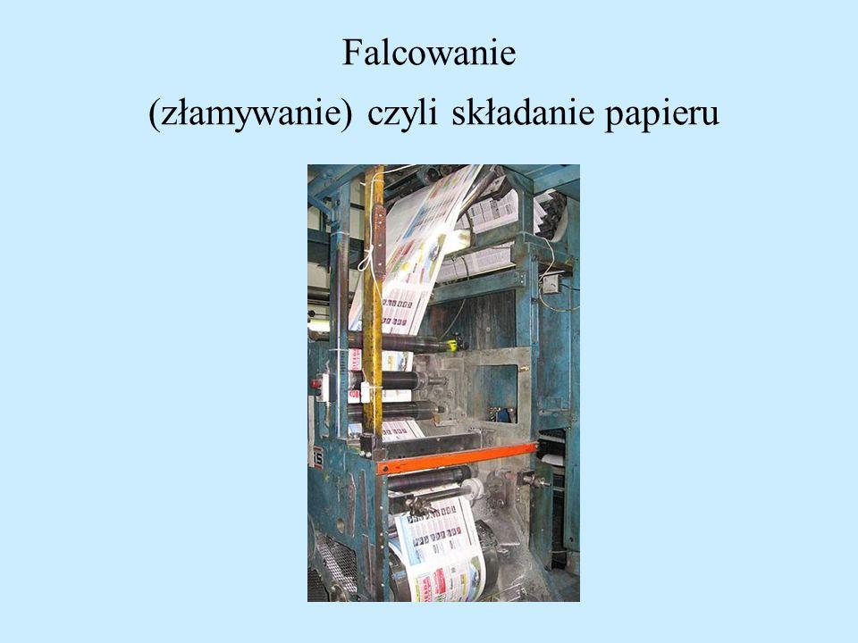 Falcowanie (złamywanie) czyli składanie papieru