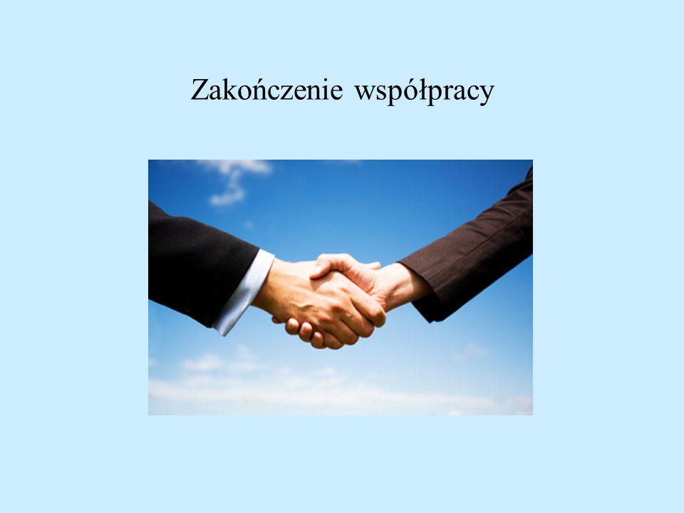 Zakończenie współpracy