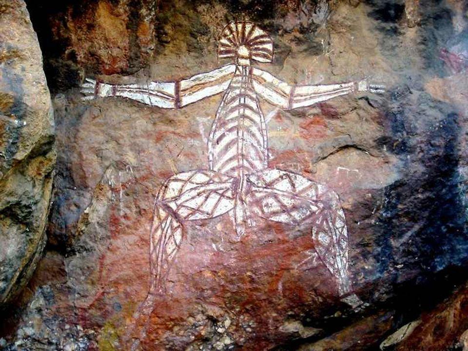 W Parku Kakadu znajduje się bardzo duża ilość rysunków naskalnych Aborygenów.