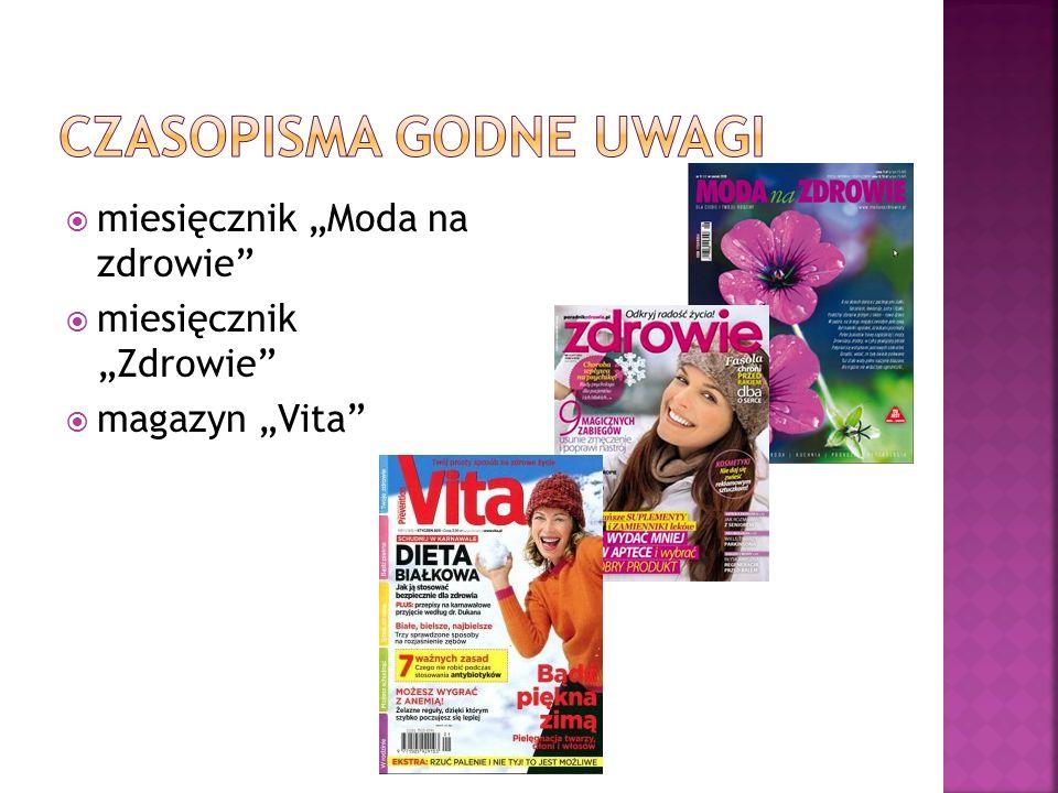 miesięcznik Moda na zdrowie miesięcznik Zdrowie magazyn Vita