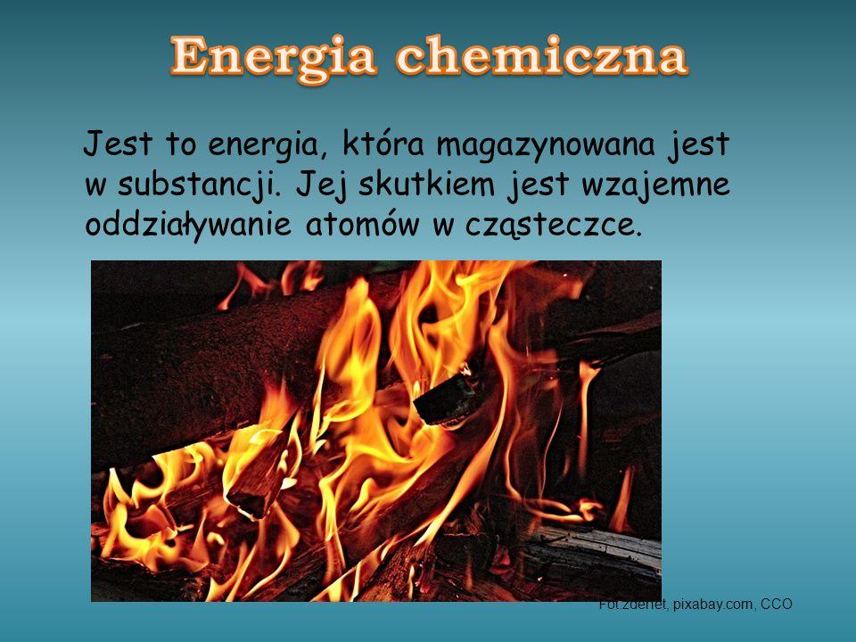 Jest to energia, która magazynowana jest w substancji. Jej skutkiem jest wzajemne oddziaływanie atomów w cząsteczce. Fot.zdenet, pixabay.com, CCO