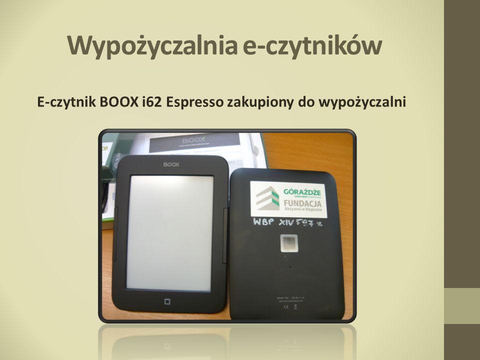 Wypożyczalnia e-czytników E-czytnik BOOX i62 Espresso zakupiony do wypożyczalni